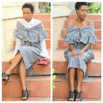 Essential shirt Dress by @nkwo_official. Available at Zinkata.