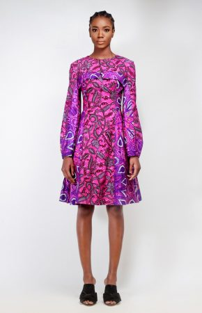 Purple Print Dress 2