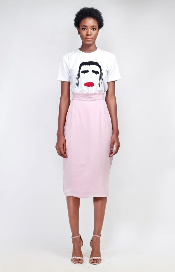 Orphelia - Pink Skirt and White Top