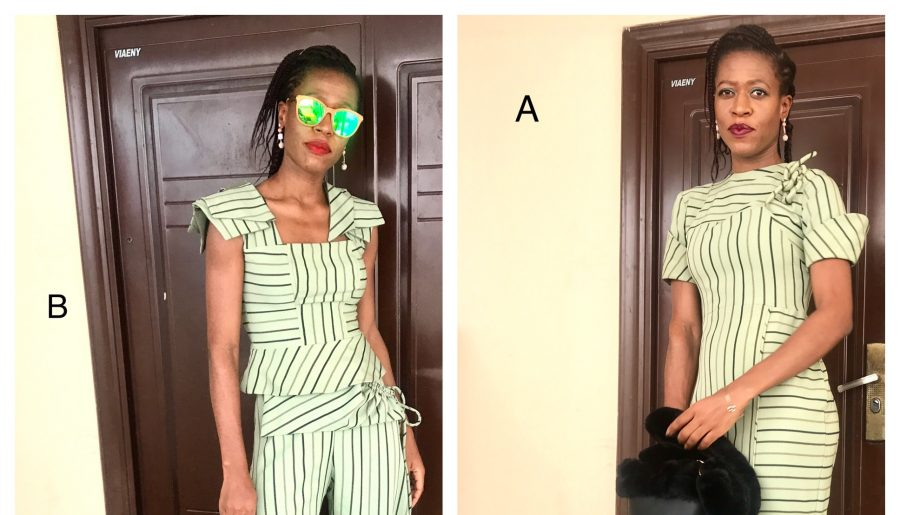 Which Girl are you? Striped Pants or Corded Dress?