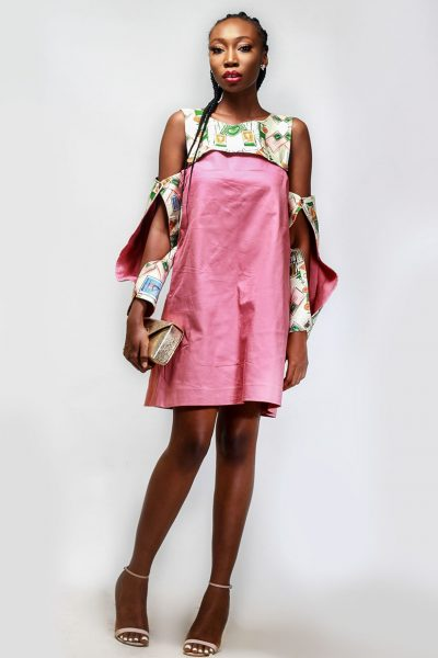 Funmilayo: Gash Sleeved Shift Dress