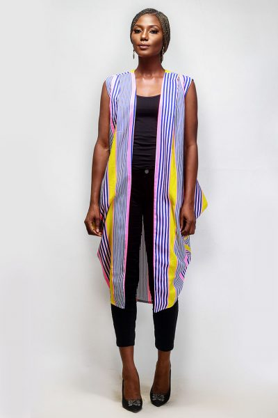 Salma: Mutli Coloured Sleeveless Kimono
