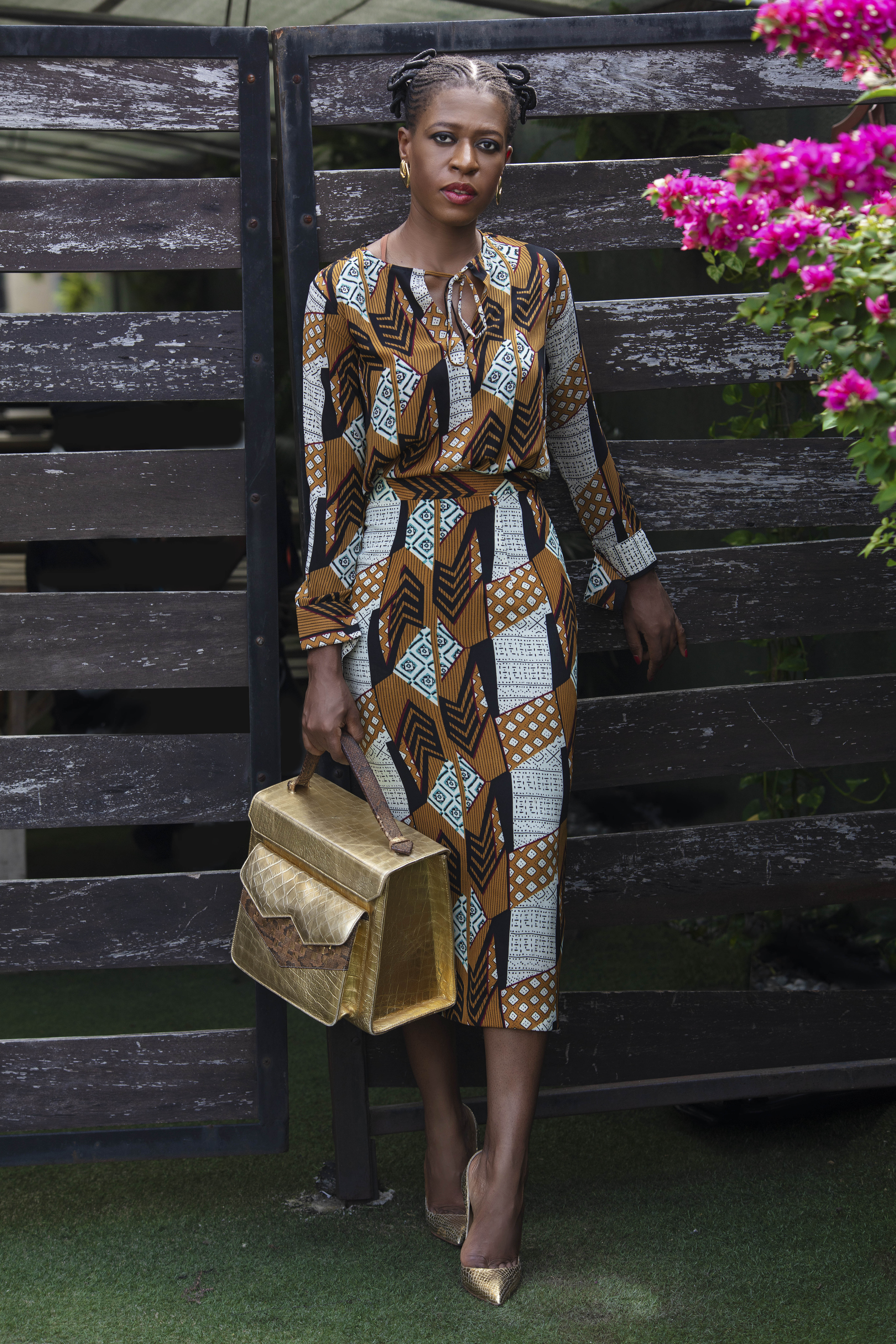 Now is for Pretty Prints and Gold Accents